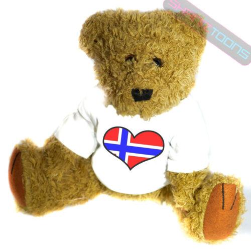 Norway Love Heart Flag Mascot Novelty Gift Teddy Bear