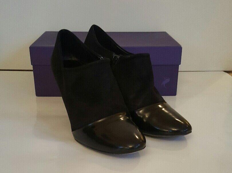 SINELA en daim noir et patient finition finition finition Chaussure Boot Full chaussure taille 39 89c9ef