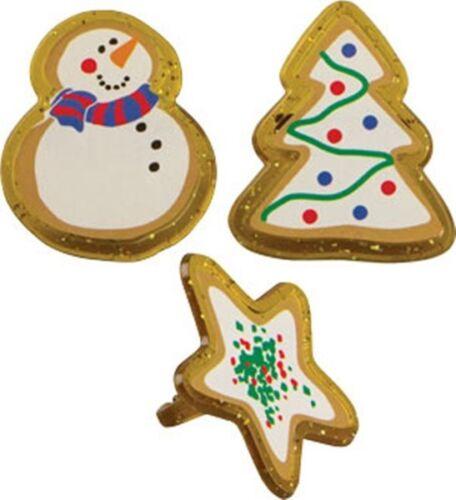 Star 12 Christmas Cookie Cupcake Party Rings Christmas Cookies Snowman Tree