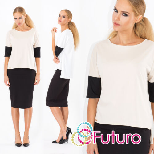 Elegant Women/'s Top Blouse Casual Crew Neck Office Style Sizes S XL FA332