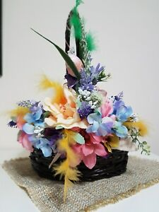 Other Antique Decorative Arts Easter Basket  Welcome Spring Long Performance Life New