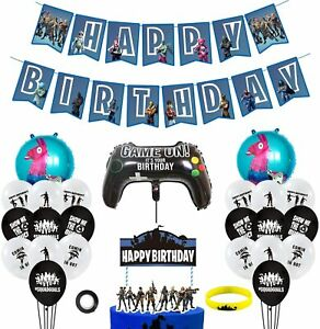 Fortnite Game on birthday party decoration set
