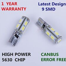 2x T10  White Canbus Parking  Light LED Bulb For Opel Agila Zafira Vectra Astra