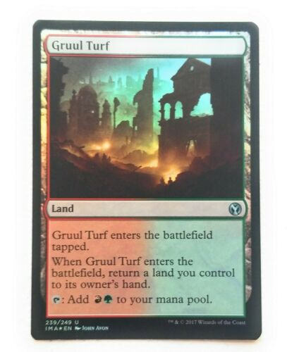 Gruul Turf FOIL mtg Iconic Masters Land Mint Pack Fresh