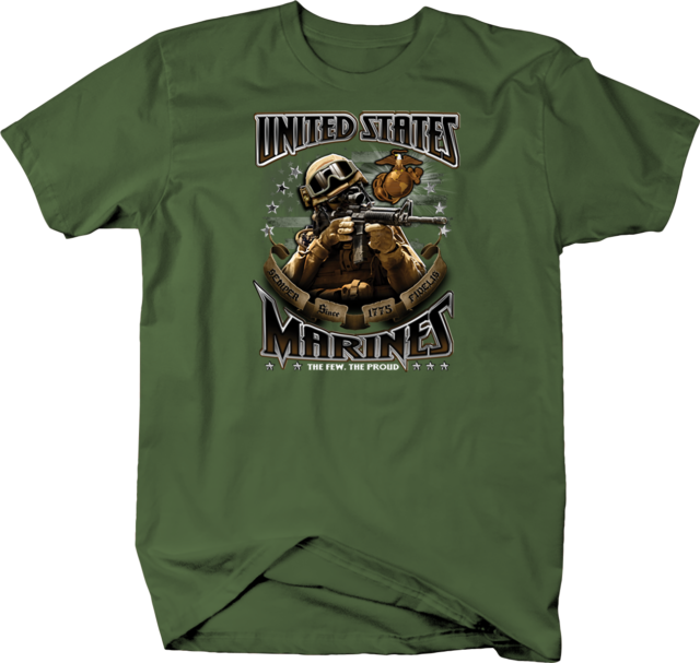 SEMPER FI USMC T-SHIRT Tee ~ United States Marines Corps ~ Marine Soldier Vet