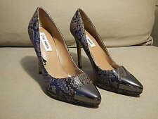 Steve Madden Snake Skin Metallic Capped Toe High Heels Pumps size 8