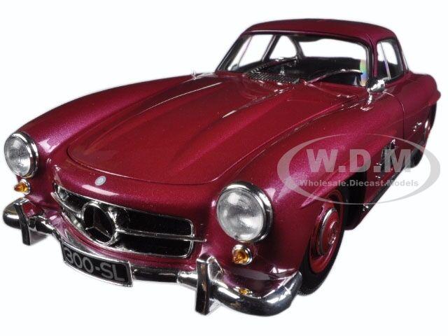 1954 MERCEDES 300 SL GULLWING W198 I rosso LTD 336PCS 1/18 BY MINICHAMPS 180039008