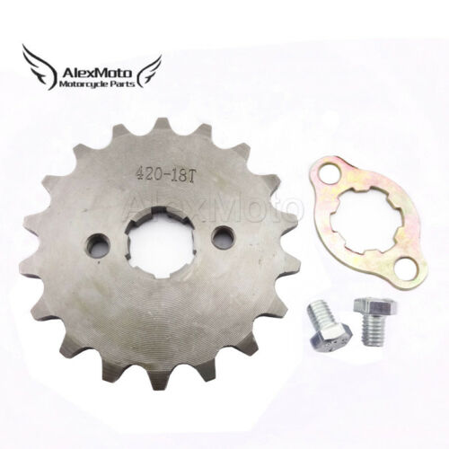 420 18 Tooth 20mm ID Front Engine Sprocket For Stomp Thumpstar Pit Dirt Bikes