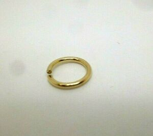 9ct gold rolled gold 7 mm bolt ring open jewellery fastener x 2