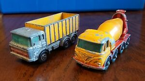 Matchbox-Container-truck-No-47-and-Foden-Cement-Truck-No-21-Lesney-England