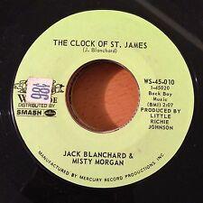 "Jack Blanchard-Misty Morgan-Clock Of St. James-Tennessee-7"" 45-Wayside-WS 45 010"