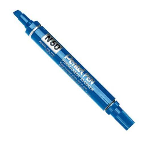3 X Pentel N60 Permanent-Marker Meißelspitze Schreibt A 2.5 To 7mm Line