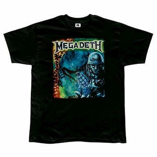 Megadeth Tour of Duty T-Shirt Small Black Officially Licensed He