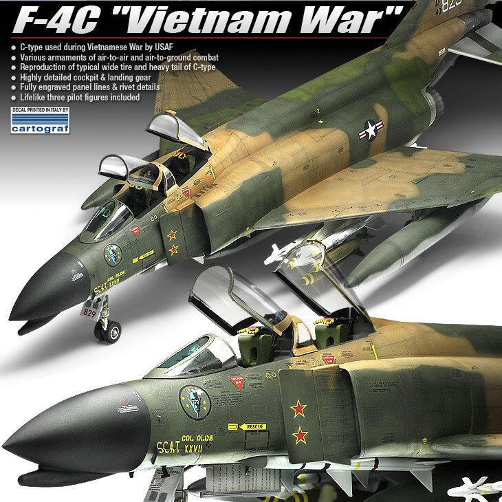 1 48 F-4C Vietnam War Academy Model Kits