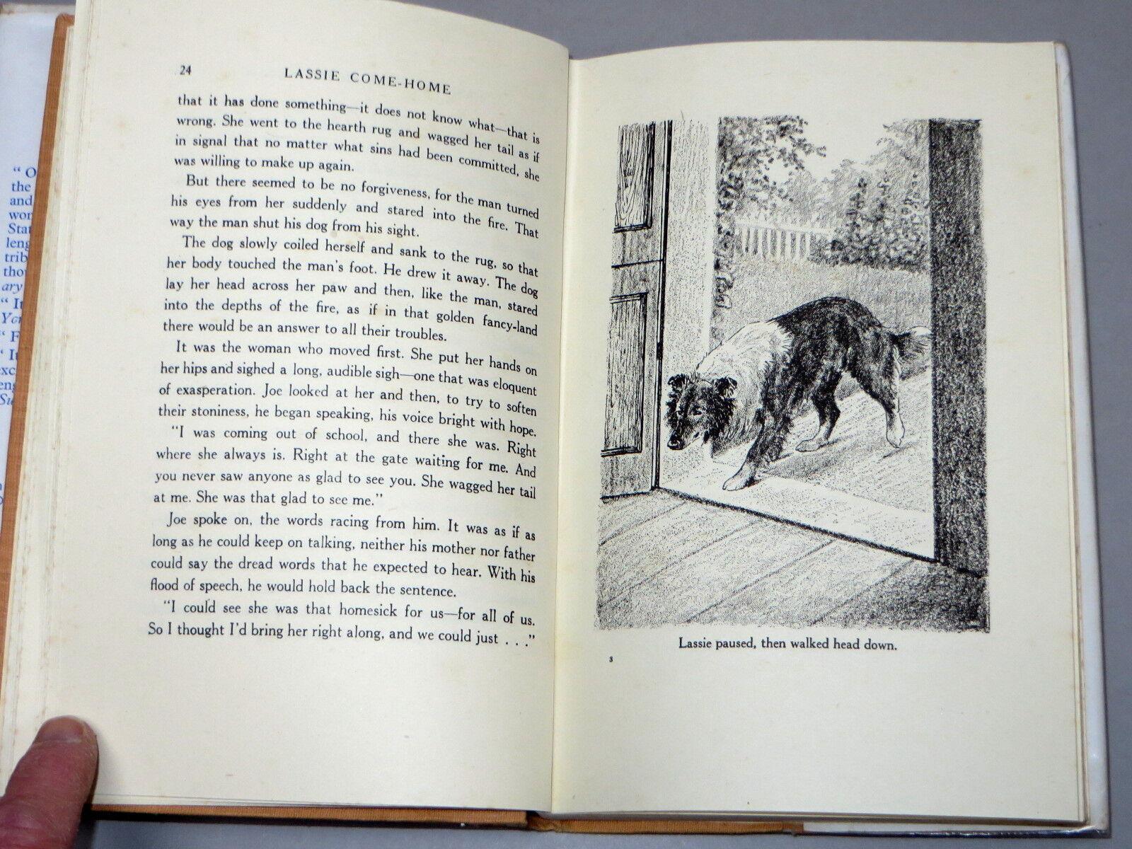 Lassie Come Home Eric Knight (1942) mit DJ illustriert von Marguerite Kirmse