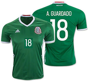 d1c1f7e66 Image is loading ADIDAS-ANDRES-GUARDADO-MEXICO-HOME-JERSEY-2016-17