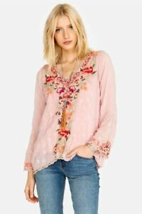 Johnny-Was-Christabella-Embroidered-Blouse-Boho-Chic-C14919-NEW