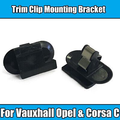 VAUXHALL CORSA BLACK PLASTIC TRIM RETAINER CLIPS FIX BUMPER FENDER