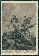 Militari Propaganda Mitragliere Abissino Schio FG cartolina XF0922