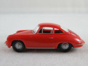 Herpa-Magic-PORSCHE-356c-1963-1965-in-rosso-arancia-1-87-h0-NUOVO-MATTONCINI