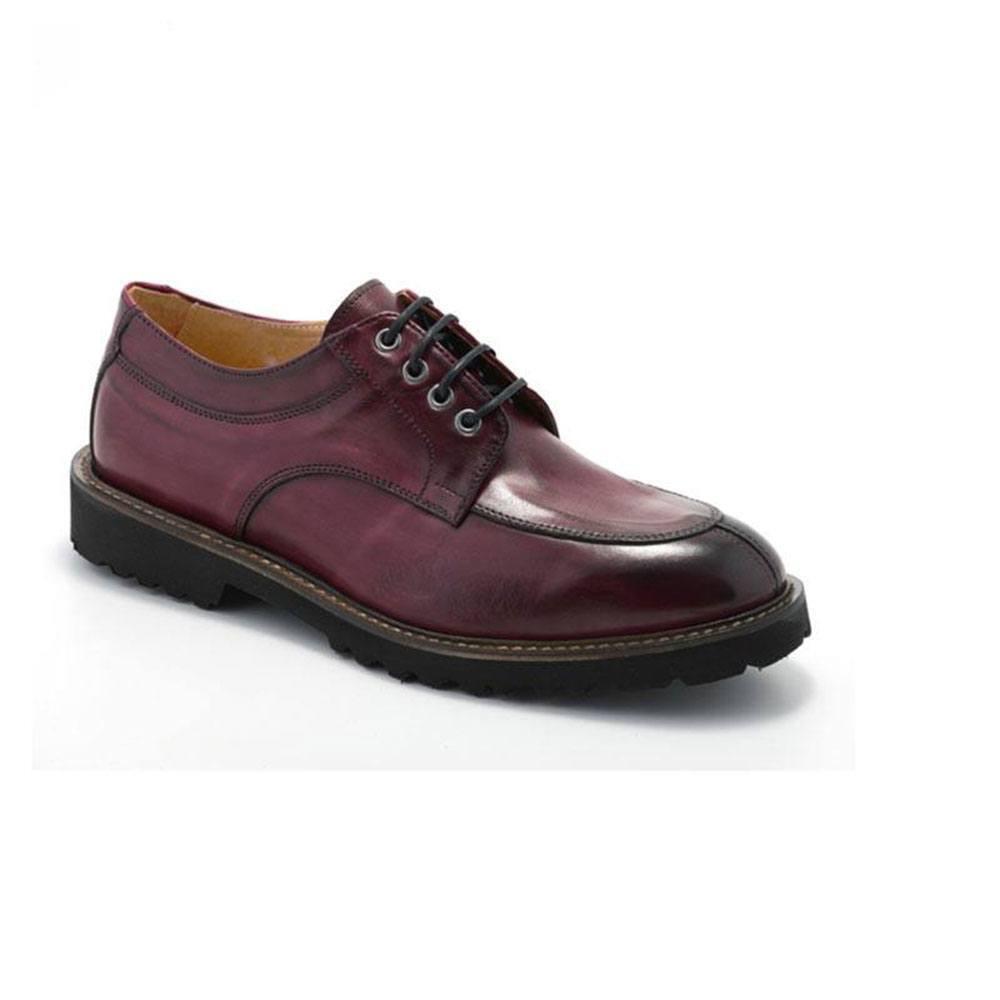 Scarpa Uomo Elegante Oxford Rossa 9054 - Exton