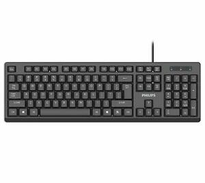 Philips-SPK6234-USB-Wired-Keyboard-for-PC-Laptop-Desktop-Computers-104-Keys