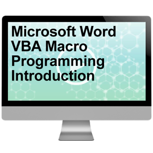 Details about Microsoft Word VBA Macro Programming Introduction Video  Training Course