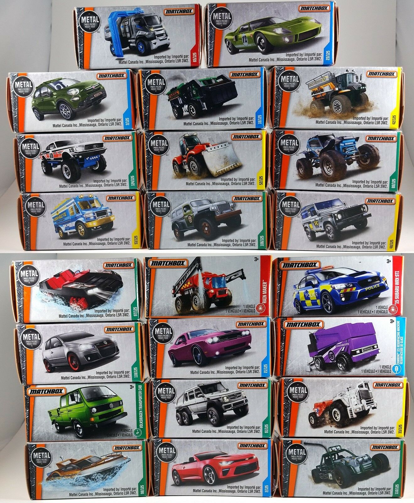 Matchbox Power Grabs - 23 DIFFERENT BOXES  New in Unopened Boxes