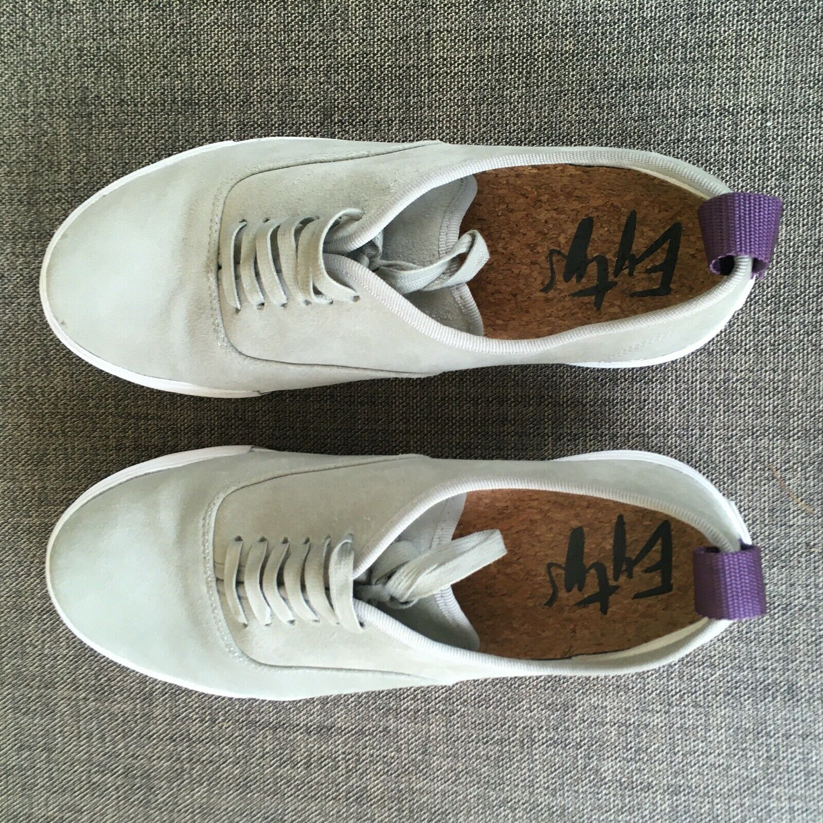 EYtys Mens Suede Skateboard Style Sneakers Gray S… - image 6