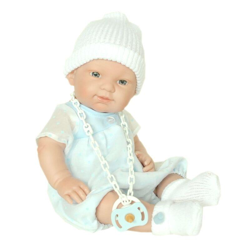 NINES D'ONIL BABY PUPPE BLAUE JUNGE 37 CM NEU  AUS SPANIEN  TOLLES GESCHENK