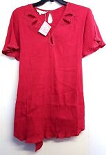 Victoria Jane, Crinkle Fabric, Coral Colour  SIZE 22  BNWT