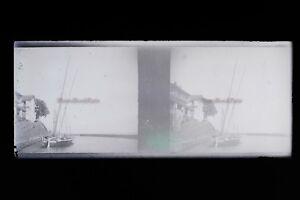 Beaulieu Cap Ferrat Francia Foto Stereo 7n1 Placca Lente Vintage Negativo 1932