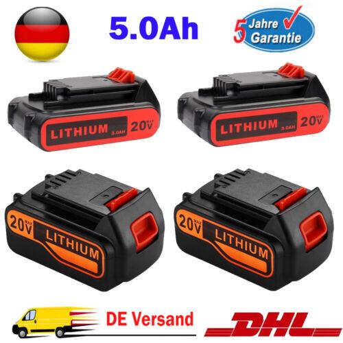 5Ah für Black /& Decker 20V LB2X4020 LBXR20 Lithium Akku BL2018 BL1518 BL4018 Neu