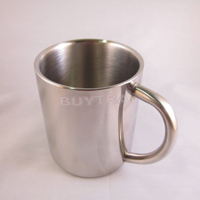 BEST Travel Carabiner Hook Wall Camping Cup Stainless Steel Outdoor Tea Mug JS