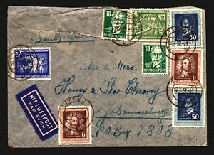 Germany-DDR-1952-Cover-to-South-Africa-w-Better-Z14111