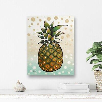 Original Pineapple Painting - Canvas Hawaiian Tropical Fruit ...