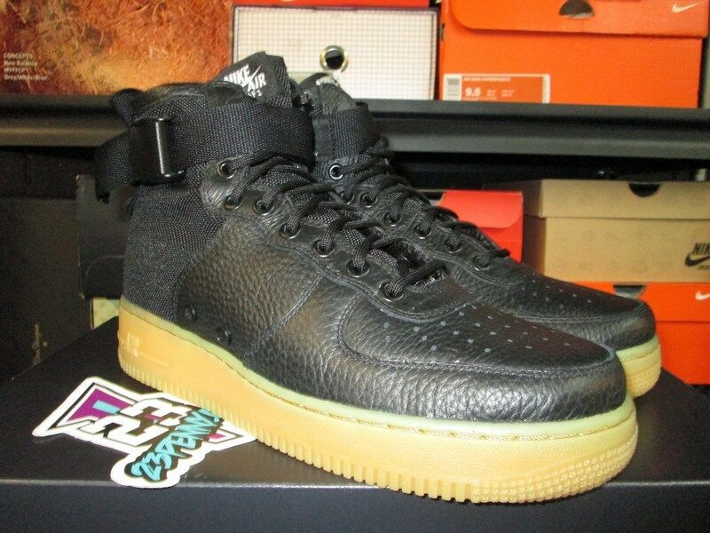 SALE NIKE AIR FORCE 1 SF MID BLACK GUM 917753 003 SZ 8-13 NEW SPECIAL FIELD
