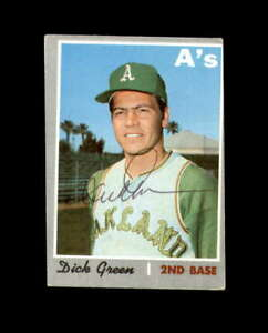 Dick Green Hand Signed 1970 Topps Oakland Athletics Autograph