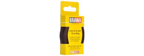 Litze 0,14 mm² dunkelbraun 1m=0,19 € #NEU in OVP# 10m Ring BRAWA 3106