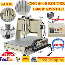 New Listingusb 3 Axis Cnc 6040 Vfd Router Engraver 3d Cutter Drillingmilling Machine 1500w