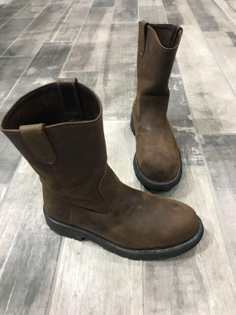 "Wolverine Wellington Boots Mens Crawford Waterproof Steel-Toe 10/"" Pull-On W04664"