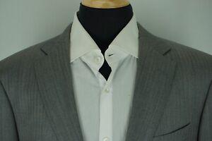 SuitSupply-Napoli-Gray-Herringbone-Striped-S110s-Wool-Sport-Coat-Jacket-Sz-44R