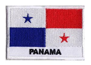 Ecusson-brode-patche-patch-insigne-drapeau-a-coudre-PANAMA-70-x-45-mm-Monde