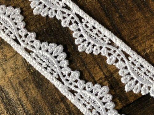 laverslace Quality Pretty White Venise Guipure Lace Trim 1.5cm sewing crafts