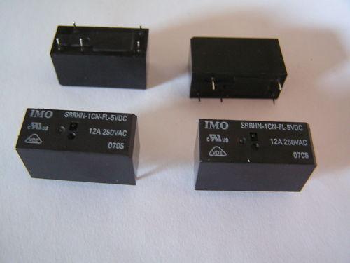 IMO SRRHN-1CN-FL-5VDC 12A 250VAC SPCO Relay 4pcs I17 MBC004c