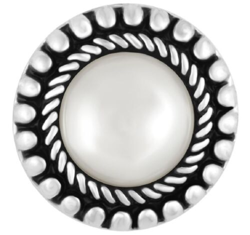 BUY 4 GET 5TH $6.95 SNAP FREE GINGER SNAP JEWELRY WHITE PEARL SWITCHBACK SN31-42
