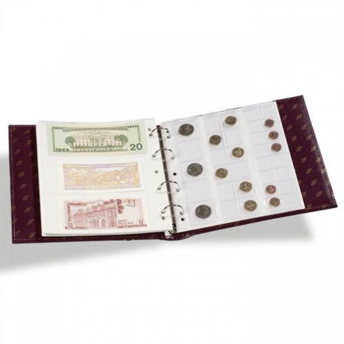 Numis Leather Coin Collection Album Black Paper Money Album Leuchtturm 320592