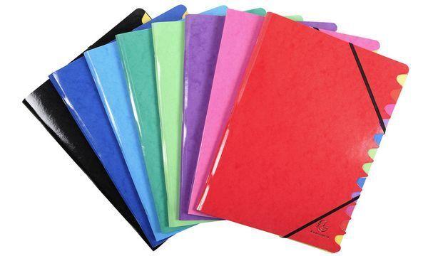 8xEXACOMPTA Ordnungsmappe Iderama, 12 Fächer, farbig sortiert | Günstige Preise  | Attraktive Mode  | Neues Produkt
