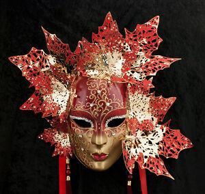 Maschera Di Venezia Viso Magnolia Dorata E IN Metallo -2055-GARPTE6