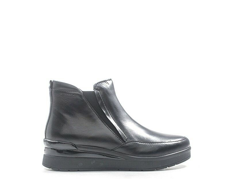 zapatos STONEFLY mujer Tronchetti Bassi  negro Pelle naturale,Tessuto 210148-000s